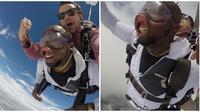 Rayakan Ulang Tahun dengan Skydiving Wajah Pria Ini Berubah Total (sumber:Instagram/@jaddo301)