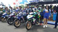 Persaingan sengit terjadi di kelas YCR4 Moped 125 cc pada grand final Yamaha Cup Race 2018 di Semarang (dok: Yamaha)