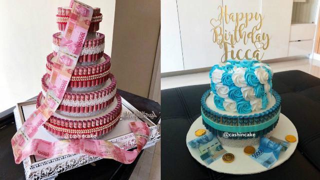 Kreatif Kue Ulang Tahun Ini Dibuat Dari Uang Kertas Asli