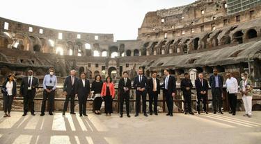 Pertemuan Menteri Kesehatan (HMM) G20 diadakan di Roma, Italia dari 5 September hingga 6 September 2021. (Foto: Facebook/Ong Ye Kung)