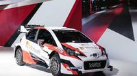 Toyota Secara resmi membuka selubung Yaris World Rally Car (WRC) untuk pertama kalinya di Paris Motor Show.