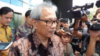 KPK memeriksa Komisaris Utama Bank Mandiri Hartadi Agus Sarwono (Liputan6.com/ Fachrur Rozie)