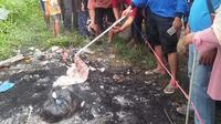 Warga temukan jenazah bayi yang diduga dibakar dengan sengaja (Abramena)