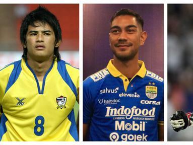 Foto kolase tiga pemain asing yang sempat memperkuat Persib Bandung yakni, Suchao Nutnum (kiri), Omid Nazari (tengah), dan Sinthaweechai Hathairattanakool (kanan). (Foto: AFP & Bola.com)