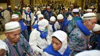 Jemaah haji Indonesia alami batuk-batuk dan ganggu pernafasan. (www.haji.kemenag.go.id)