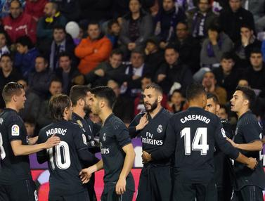 Real Madrid Perkasa di Kandang Real Valladolid