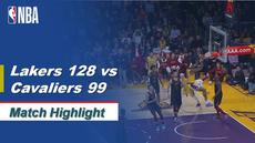 Highlights NBA 2019-2020, LA Lakers Vs Cleveland Cavaliers 128-99