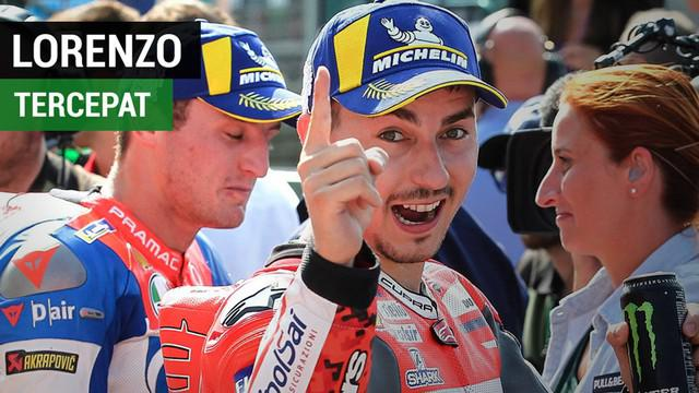 Berita video hasil kualifikasi MotoGP San Marino, di mana Jorge Lorenzo meraih pole position. Sementara itu, Marc Marquez dan Valentino Rossi menduduki posisi kelima dan ketujuh.