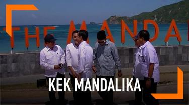 Presiden Joko Widodo mengunjungi kawasan ekonomi khusus Mandalika, Nusa Tenggara Barat. Secara khusus, Jokowi meninjau kesiapan sarana penunjang di lokasi yang akan menjadi tempat gelaran Motogp 2021.