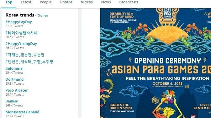Asian Para Games 2018. (Twitter)