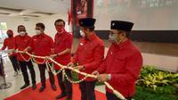 Peresmian Gedung Serba Guna Megawati Sokearnoputri. (Senin, 22/08/2021). (Liputan6.com/Yandhi Deslatama).
