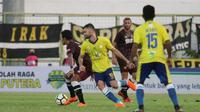 Barito Putera meraih tiga poin usai menekuk PSM Makassar 2-1 pada pekan keempat Gojek Liga 1 2018 bersama Bukalapak di Stadion 17 Mei Banjarmasin, Senin (16/4/2018). (Bola.com/Abdi Satria)