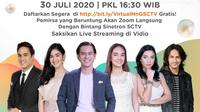 Virtual Meet and Greet #3traordinary jelang HUT ke-30 SCTV di 3 Kota, Bandung, Yogyakarta dan Surabaya