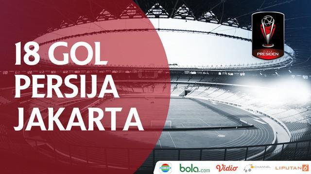 Berita video kumpulan 18 gol Persija Jakarta yang mengantarkan tim ibukota menjadi juara Piala Presiden 2018.