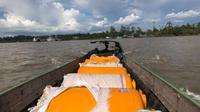 50 tandon atau penampung air untuk pemulihan Asmat. (Kabarpapua.co / IJTI Papua)