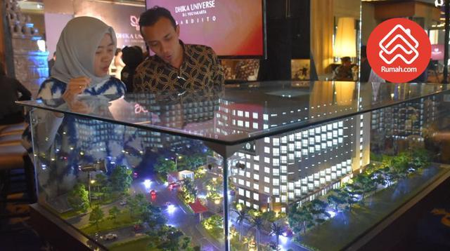 Proyek Taman Melati Yogyakarta Sinduadi, apartemen ini menyasar mahasiswa sebagai target pasarnya.