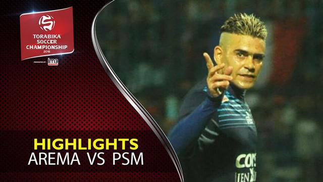 Video highlights TSC 2016 antara Arema Cronus melawan PSM Makassar yang berakhir dengan skor 2-0 di Stadion Gajayana, Malang.