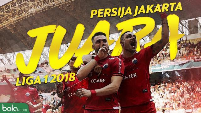 Persija Jakarta keluar sebagai juara Gojek Liga 1 2018 bersama Bukalapak.