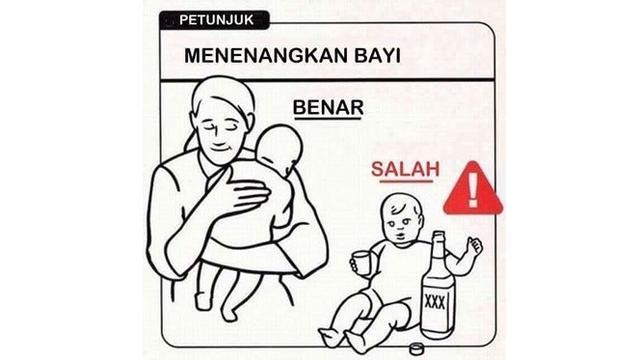 7 Tutorial Merawat Bayi Ala Netizen Ini Kocak, Jangan Ditiru