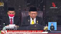 Ketua MPR RI Bambang Soesatyo saat Sidang Tahunan MPR RI 2021 di Gedung MPR/DPR, Jakarta, Senin (16/8/2021).