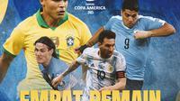 Copa America 2021, Empat Bintang Akan Pensiun (Grafis: Adreanus Titus/Bola.com)