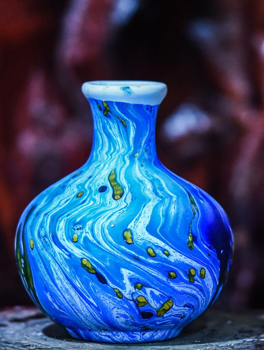 Foto Mengintip Pembuatan Vas Bunga Cantik Dari Tanah Liat Di Mesir Global Liputan6 Com