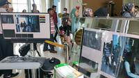 Thermo scanner di Bandara Sultan Syarif Kasim II untuk mendeteksi penumpang terinfeksi Virus Corona. (Liputan6.com/M Syukur)