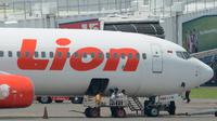 Ilustrasi Pesawat Lion Air (ADEK BERRY / AFP)