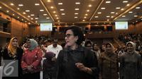 Sri Mulyani Indrawati saat mengisi acara kuliah umum di Graha Sanusi Unpad, Kota Bandung, Selasa (29/11). Sri Muyani mengangkat tema Membangun Fondasi Demi Pertumbuhan yang Lebih Berkelanjutan. (Liputan6.com/Yoppy Renato)