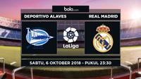 Jadwal La Liga 2018-2019 pekan ke-8, Deportivo Alaves vs Real Madrid. (Bola.com/Dody Iryawan)