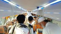 Ada beberapa bus yang mengangkut jemaah calon haji Indonesia tidak memenuhi perjanjian kontrak. (dream.co.id)