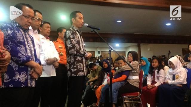Presiden Jokowi sempat menemui keluarga korban kecelakaan pesawat Lion Air JT 610.