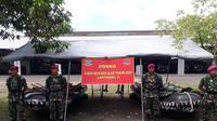 Batalyon Marinir Pertahanan Pangkalan V Surabaya (Yonmarhanlan V) telah menyiapkan pasukan Siaga Bencana Alam untuk mengantisipasi intensitas curah hujan yang tinggi di wilayah Jawa Timur (Liputan6.com/ Dian Kurniawan)