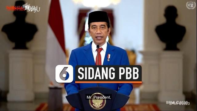 Presiden Jokowi menyampaikan pidato secara virtual di sidang umum PBB hari ini. Jokowi menyinggung beberapa isu mulai dari penanganan pandemi, hingga kemerdekaan Palestina.