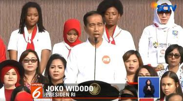Presiden berharap persatuan Indonesia menjadi semangat positif dalam gelaran akbar Asian Games 2018.