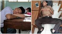Kelakuan Siswa Saat Tertidur di Sekolah Ini Bikin Cengar Cengir (sumber:instagram/trapps_bermimpi)