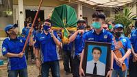 Suasana upacara pemakaman Wapres Brajamusti, Saga Susanto di Yogyakarta. (Dok DPP Brajamusti)