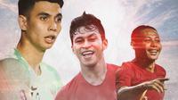 Timnas Indonesia - Nadeo Argawinata, Osvaldo Haay, Evan Dimas (Bola.com/Adreanus Titus)