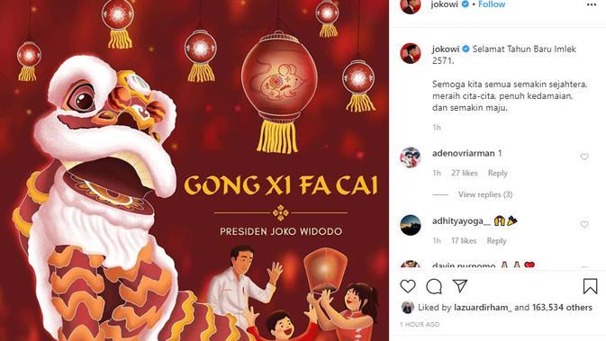 Jokowi (Foto: Instagram Jokowi)
