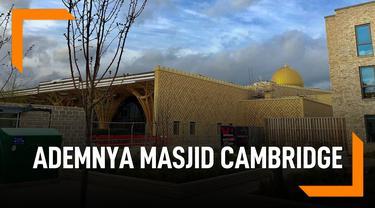 Bikin Adem, Masjid Cambridge Ini Berkonsep Ramah Lingkungan
