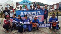 Bobotoh Persib dukung Timnas Indonesia U-22 di SEA Games (Liputan6.com/Cakrayuri Alam)