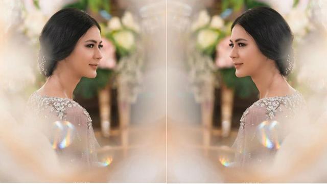 Cantiknya Kebaya Penuh Bunga Paula Verhoeven Saat Dilamar Baim Wong