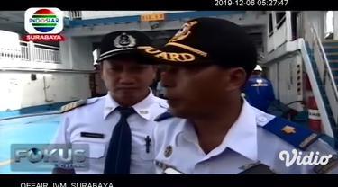 Jelang datangnya libur Natal dan Tahun Baru 2020, Kantor Kesyahbandaran Otoritas Pelabuhan (KSOP) Tanjung Wangi, Banyuwangi, Jawa Timur menggelar uji petik di seluruh kapal ferry yang berlayar di selat Bali.
