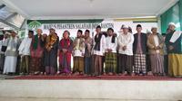 Ribuan Santri, Nelayan dan Petani Deklarasi Dukung Jokowi 2 Periode. (Liputan6.com/Yandhi Deslatama)