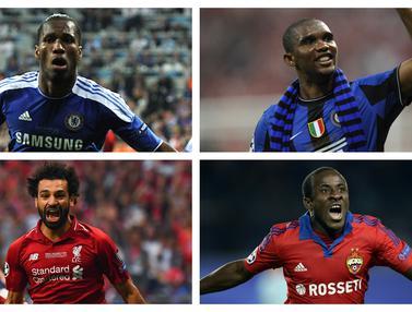 FOTO: 7 Pemain Afrika Pencetak Gol Terbanyak dalam Sejarah Liga Champions, Termasuk Duo Liverpool