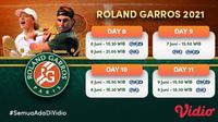 Live Streaming Grand Slam Roland Garros Pekan Ini di FOX Sports Eksklusif Melalui Vidio. (Sumber : dok. vidio.com)