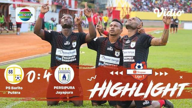 Pertandingan #ShopeeLiga1, antara #BaritoPutera VS #PersipuraJayapura yang berlangsung di Stadion Demang Lehman, Martapura pada ha...