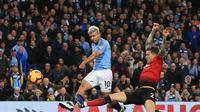 3. Sergio Aguero (Man City) - 8 gol dan 4 assist (AFP/Lindsay Parnaby)