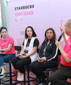 Yayasan Lovepink bekerja sama dengan Starbucks Indonesia dalam kampanye Pinkvoice. (Foto: fimela.com/Adrian Putra)