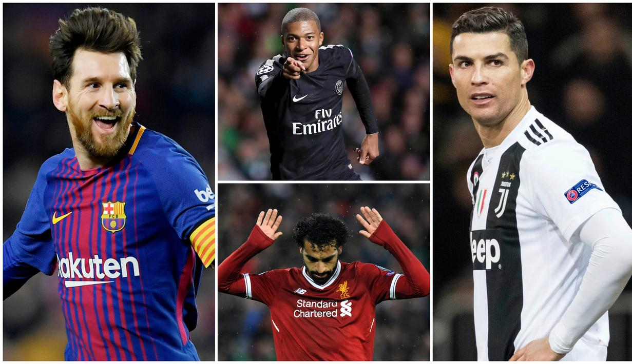 Striker Barcelona, Lionel Messi, menjadi pencetak gol terbanyak sementara di liga top Eropa dengan 19 gol. Berikut ini daftar pencetak gol terbanyak di liga top Eropa musim 2018/2019. (Foto Kolase AP dan AFP)